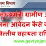 बिहार मुख्यमंत्री ग्रामीण आवास योजना आवेदन फॉर्म वित्तीय सहायता राशि